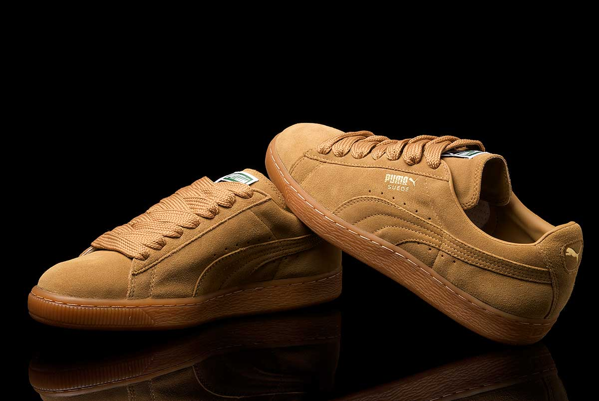 brown suede puma shoes