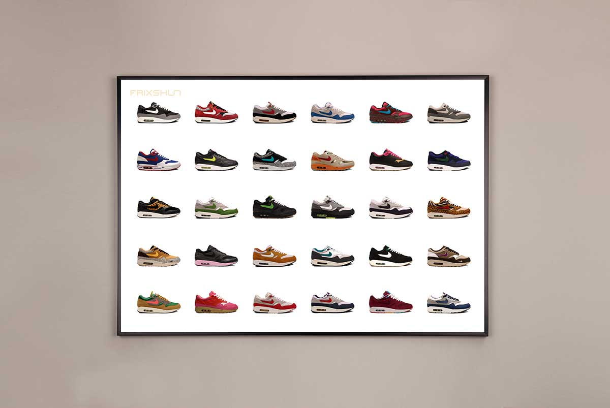 nike air max 1 poster pack frixshun. Black Bedroom Furniture Sets. Home Design Ideas