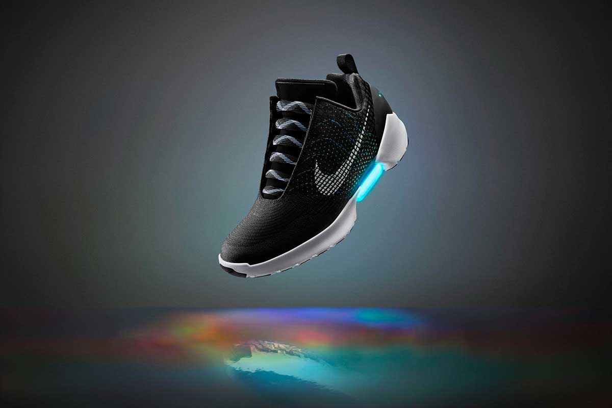 "Nike has revealed a line of self-lacing trainers, the Nike HyperAdapt 1.0. The shoes, which will launch later in 2016, are the first to feature what the sportswear brand is calling ""electro-adaptive reactive laces (EARL)""."