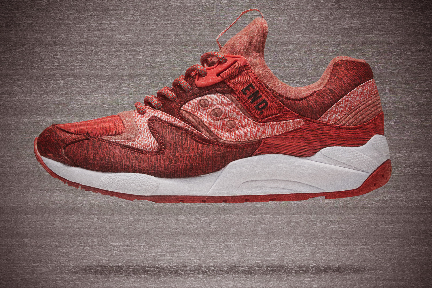 "Saucony x END. Grid 9000 ""Red Noise"""