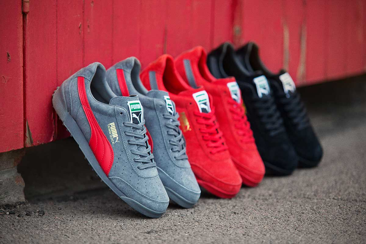 "PUMA introduces the – Wear with Pride. A campaign which reflects the tendency of fashion focused individuals to dress from the feet up. The pack will see the long awaited return of the ""D-Ring"" PUMA Dallas."
