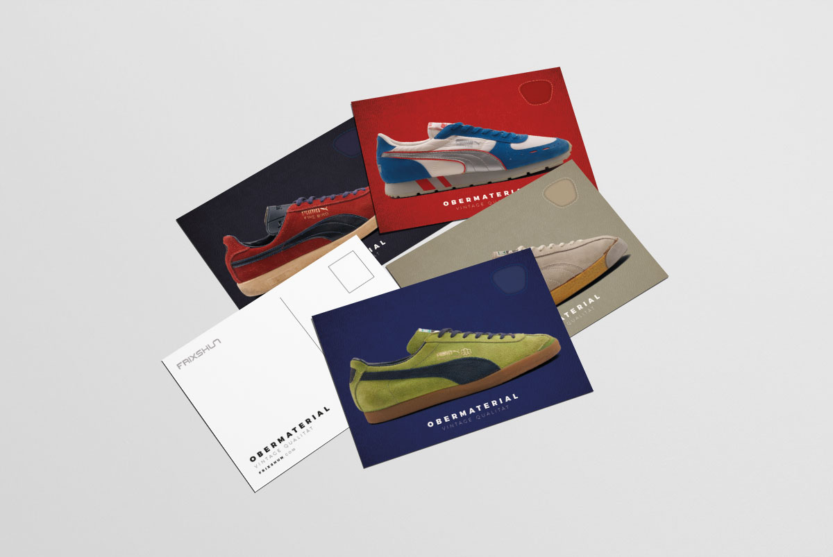 For Autumn 2016, Frixshun Magazine presents Obermaterial Vintage Qualität Volume 1 – a visual and written guide to PUMA sports shoes, focusing on models from the companies vast back catalogue. It features some of PUMA's greatest creations from their formative years to modern re-interpretations and from rare 'impossible to find' vintage models to 'must have' classics. Inside you will find over 120 models photographed in detail with accompanying text telling the stories behind the shoes.